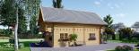 Blockbohlenhaus LANGON (44+44 mm) 108 m² mit extra Schneelast visualization 3