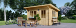 Gartenhaus DREUX (44 mm) 4x3 m, 12 m² mit Flachdach  visualization 6