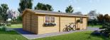 Doppelgarage aus Holz (44 mm) 6x9 m, 54 m² visualization 7