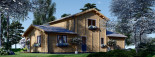 Blockbohlenhaus HOLLAND PLUS (66 mm), 120 m² + 13 m² Terrasse visualization 7