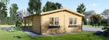 Holzgarage (44 mm) 4x6 m mit Doppelcarport aus Holz 5.5x6 m, 57 m² visualization 8
