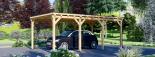 Carport aus Holz für 1 Auto MODERN, 3x6 m visualization 5