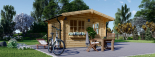 Gartenhaus DREUX (44 mm) 4x3 m, 12 m² visualization 5