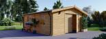 Holzgarage (44 mm) 6x5.7m,  34 m² / 75 m³ visualization 2