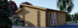 Doppelgarage aus Holz TWIN (44 mm) 6x6 m, 36 m² visualization 7