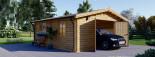 Holzgarage (44 mm) 6x5.7m,  34 m² / 75 m³ visualization 1