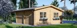 Doppelgarage aus Holz (44 mm) 6x6 m mit Carport 3x6 m, 54 m² visualization 6