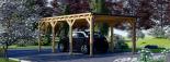 Carport aus Holz für 1 Auto MODERN, 3x6 m visualization 4