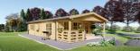 Blockbohlenhaus DONNA (44 mm) 63 m² visualization 3