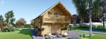 Blockbohlenhaus LANGON (44+44 mm) 108 m² mit extra Schneelast visualization 4