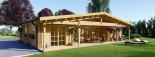 Blockbohlenhaus RIVIERA (120 mm) 120 m² visualization 1