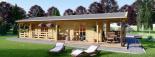 Blockbohlenhaus TOSCANA (66 mm) 50 m² visualization 10
