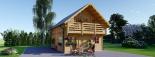 Blockbohlenhaus LANGON (44+44 mm) 108 m² mit extra Schneelast visualization 2