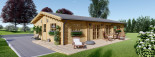 Blockhaus LIMOGES (120 mm) 103 m² visualization 2