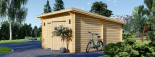 Holzgarage MODERN (44 mm) 4x6 m, 24 m² mit Flachdach visualization 5
