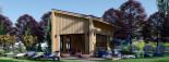 Blockbohlenhaus SOPHIA (44 mm + Vertikale Holzschalung isoliert), 20 m² visualization 2