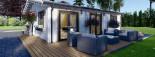 Isoliertes Blockbohlenhaus ALICE 72 m² visualization 9