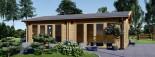 Blockbohlenhaus MARINA (44+44 mm) 48 m² visualization 2
