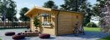 Gartenhaus NINA (44 mm) 6x6 m, 36 m² visualization 4