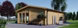 Blockbohlenhaus MARINA (44+44 mm) 48 m² visualization 6