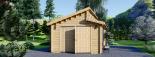 Holzgarage TWIN (44 mm) 4x6 m, 24 m² visualization 7