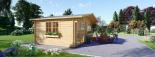 Gartenhaus WISSOUS (34 mm) 5x5 m, 25 m² visualization 4