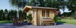 Gartenhaus DREUX (44 mm) 4x3 m, 12 m² visualization 2