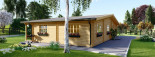 Blockbohlenhaus RIVIERA (120 mm) 120 m² visualization 6