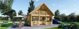 Isoliertes Blockbohlenhaus LIVINGTON 72 m² visualization 2