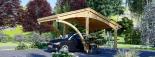 Carport aus Holz für 1 Auto CORA, 3x6 m visualization 5