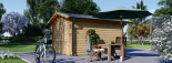 Gartenhaus PETER (34 mm) 3x4 m, 12 m² visualization 4