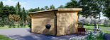 Gartenhaus DREUX (44 mm) 4x3 m, 12 m² mit Flachdach  visualization 4