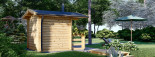Gartensauna ELDA (44 mm), 2,5x2,9 m, 7 m² visualization 4