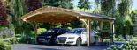 Carport aus Holz für 2 Autos BETSY DUO, 6.1x6 m visualization 6