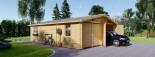 Doppelgarage aus Holz (44 mm) 6x8 m, 48 m² visualization 1