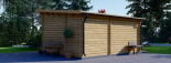 Gartenhaus HELEN (44 mm) 6x4 m, 24 m² mit 12.5 m² Terrasse visualization 5