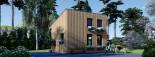 Blockbohlenhaus SOPHIA (44 mm + Vertikale Holzschalung isoliert), 20 m² visualization 5