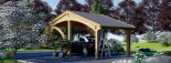 Carport aus Holz für 1 Auto CORA, 3x6 m visualization 4
