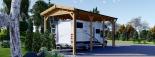 Carport aus Holz für Wohnmobil, 3.5x7 m visualization 4