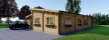 Blockbohlenhaus BERTA (66 mm) 105 m² mit Flachdach visualization 4