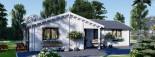 Isoliertes Blockbohlenhaus ADELE 68 m² visualization 5