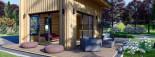 Blockbohlenhaus SOPHIA (44 mm + Vertikale Holzschalung isoliert), 20 m² visualization 9
