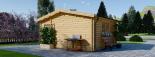 Gartenhaus NINA (44 mm) 6x6 m, 36 m² visualization 6