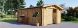 Holzgarage (44 mm) 4x6 m, 24 m² visualization 1
