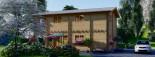 Blockbohlenhaus TOULOUSE (120 mm) 91 m² visualization 8