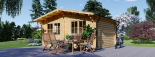 Gartenhaus LILLE (34 mm) 4x5 m, 20 m² visualization 3