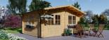 Gartenhaus LILLE (44 mm) 4x3 m, 12 m² visualization 1