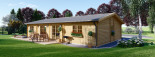 Blockhaus LIMOGES (120 mm) 103 m² visualization 4