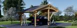 Carport aus Holz für 1 Auto CORA, 3x6 m visualization 3