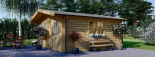 Gartenhaus DREUX (44 mm) 6x6 m, 36 m² visualization 2